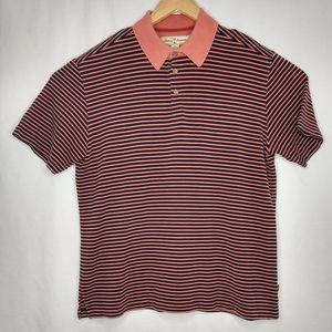 Tommy Bahama Med Silk Cotton Stripes Polo Shirt